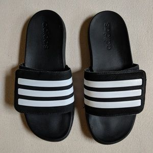 Adidas Kids Black Slides